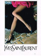 PUBLICITE ADVERTISING 064  1990  YVES SAINT LAURENT  bas & collants