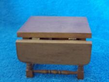 Miniature Dollhouse Wood Drop Leaf Kitchen Table