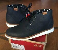 Vans Desert Chukka Leather Mens - Black UK 7.5 EU 41 US 8.5 New
