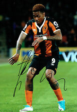 Abel HERNANDEZ Signed Autograph 12x8 Football Hull City Photo A AFTAL COA