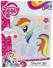 MY LITTLE PONY Sequin Art Arts & Crafts Sequins Make a Picture Fun Creative Gift