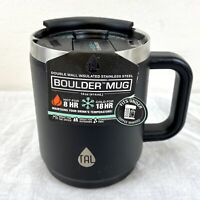 Tal Thermal Boulder Mug Black Stainless Steel Double Wall Insulated 14 Fl Oz New