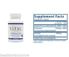 Vital Nutrients d-Pinitol 600 mg 60 caps - Exp Date: 11/2019