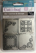CUTTLEBUG ~ Vintage ~ Provo Craft  (4 Dies) by Noralee Peterson