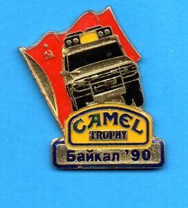 Pin's lapel pin RALLYE RAID CAMEL TROPHY Siberia USSR Land Rover DEFENDER 90