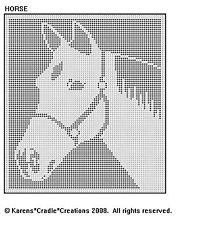 Horse Filet Crochet Pattern