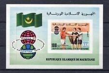 s5397) MAURITANIE 1978 MNH** World CF - Coppa Mondo Calcio S/S IMPERF