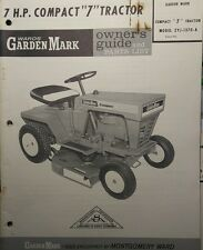 Montgomery Ward Compact 7 Garden Mark Lawn Tractor Owner & Parts Manual ZYJ-1370