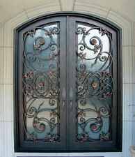 "Hand-Crafted 12 Gauge Wrought Iron Doors by Monarch Custom Doors  72"" X 96"""