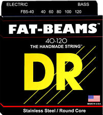 DR FB5-40 Fat-Beams Stainless Steel 5 String Bass Guitar Strings 40-120 Lite