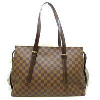 Auth LOUIS VUITTON Chelsea N51119 Ebene Damier TH0077 Shoulder Bag