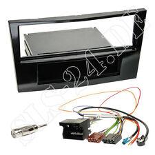 Autoradio Radioblende hochglanz schwarz ISO Adapter OPEL Antara Astra Corsa SET