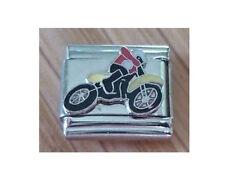 Italian  Charms  E12 Trial Motor  Motorcycle Motorbike Bike