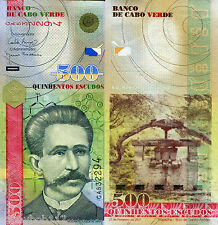 CAPE (CABO) VERDE 500 Escudos Banknote World Money Currency Africa p69 Bill Note