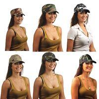 CAPPELLO cappellino con visiera militare mimetico tank  army esercito