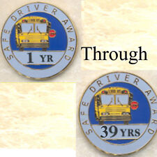 Lot of One Hundred (100) School Bus Staff Safe Driver Years Award Pins