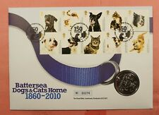 2010 GB ROYAL MINT FDC BATTERSEA DOGS & CATS HOME COIN/MEDAL