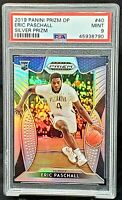 2019 Prizm RC SILVER REFRACTOR Warriors ERIC PASCHALL Rookie Card PSA 9 MINT