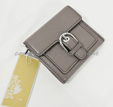 Michael Kors Cooper Medium Leather Carryall Card Holder . Small Wallet in Cinder