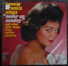 "Connie Francis Sings ""Never On Sunday"" 1961 LP Shrink Mono MGM Records ‎E3965"