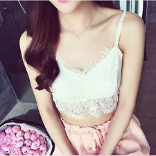 Women Lace Floral Crop Top Bralette Bralet Bra Bustier Cami Unpadded Tank Vest