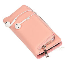 Zipper Wallet Card Removable Magnetic Leather Case Cover For iPhone 6 6s 7 Plus