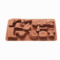 Fire Fighting Equipment Shape Silicone Soap Mold Chocolate Candy Crayon Mold