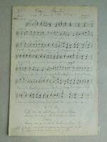 Antik Trennwand Religiös Handschrift Wohnungstür L'Abbé Alphonse Bourgoin