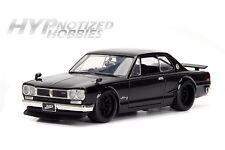 JADA 1:24 FAST&FURIOUS BRIAN'S 1971 NISSAN SKYLINE GT-R DIECAST BLACK 99793 N/B
