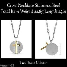 Cross Necklace Stainless steel. Total item weight 22.8g Length 24in