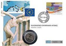 Stempelglanz Olympia & Sport Münzen aus Griechenland nach Euro-Einführung