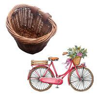 Retro Childrens Wicker Bicycle Shopping Basket For Kids Boys Girls Bike Cycle UK
