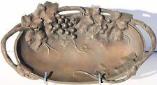 VIDE-POCHES EN BRONZE A PATINE MORDOREE - SIGNE A. BOULAN - 1900 - L. 36 cm