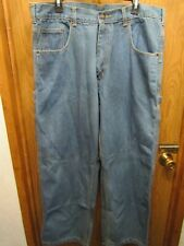 MENS BEAR RIVER WORKWEAR CARPENTER 100% COTTON BLUE JEAN PANTS SIZE 38X30