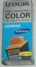 New Genuine Original Lexmark Color Ink Cartridge #15M0125 / Factory Sealed