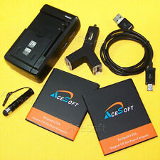 AceSoft 2x 3770mAh Battery Charger Cable Stylus for Motorola Moto G4 Play Xt1607