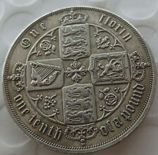 Queen Victoria/Four Crowned Cruciform Shields 1881 Two Shilling Gothic Script