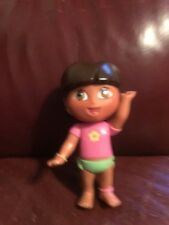 "Mattel Dora Explorer Doll 2006 With Pig Tails PVC Hair & Clothes 4.5"" Tall BC10"