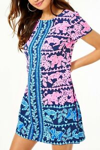 NWT Lilly Pulitzer Blanca Stretch Romper in High Tide perfect pair R$188 Size 8