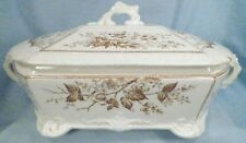 Sylvan Brown Transferware Covered Vegetable Tureen Johnson Brothers AS IS # 2