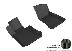 For 2017-2020 Mercedes-Benz GLC43 AMG Carbon Pattern Black All Weather Floor Mat