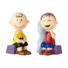 Peanuts Charlie Brown and Linus Sitting Ceramic Salt and Pepper Shaker Set NEW
