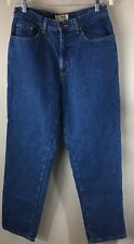 LL Bean Flannel Lined Women Jeans Size 12 Relaxed Fit Medium Wash