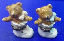 Midwest of Cannon Falls | Girl & Boy Bears In Shoes Porcelain Hinged Box *New*