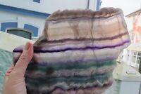 Fluorite Crystal Slice polished Healing natural genius stone fluorspar 1 kilo