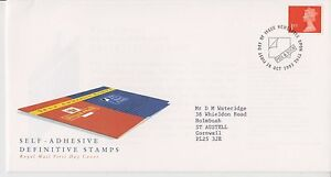 GB ROYAL MAIL FDC FIRST DAY COVER 1993 MACHIN DEFINITIVE SELF ADHESIVE NEWCASTLE