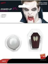 Halloween Fancy Dress Vampire Dracula Tooth Caps 2 x Fangs & Adhesive by Smiffys