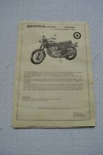 Entex Honda 750 four 1/3 scale Model Kit Engine Instructions Book GUC