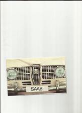 SAAB SEDAN, ESTATE AND SAAB SPORT SALES BROCHURE 1965