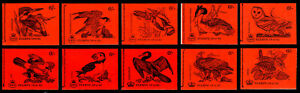Lot of 10 GB Machin Birds Series Stitched Booklets, Scott# BK115, BK116, BK117